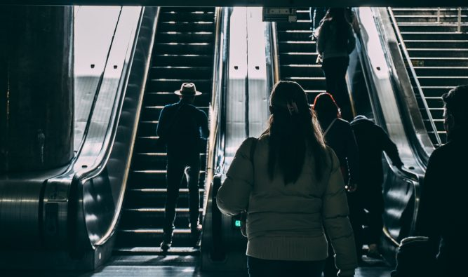 What Makes People Get to the End of an Escalator and STOP?!